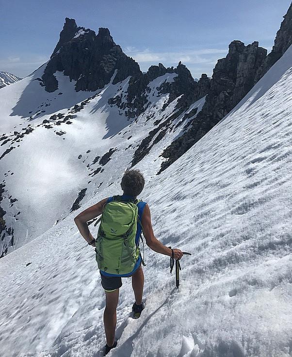 Stilig fjellrekke