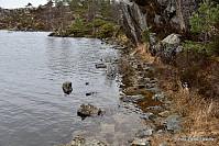 Stien er heller ikke uberørt av vannstanden.