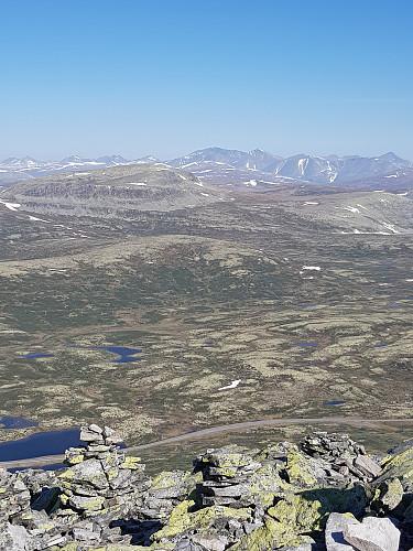 Fra Muen, mot stortoppene i Rondane